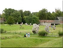 SU1070 : North-west quadrant of Avebury henge by Jim Champion