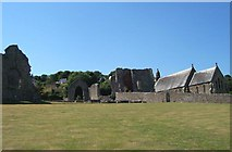 SN1645 : St Dogmael's Abbey by Cered