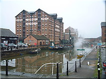 SO8218 : Gloucester Docks by Peter Latham