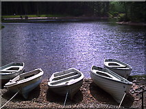 NT2263 : Fishing Boats on Glencorse Reservoir by Colin Bennett