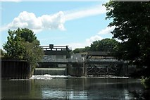 ST7264 : Weir at Weston Lock on the River Avon. by Martyn Pattison