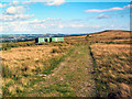 SE1443 : Track and tin hut on Hawksworth Moor by David Spencer