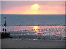 TF6740 : Sunset at Hunstanton by Kim Slater