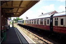 TL8928 : Chappel & Wakes Colne Railway Station, Essex by Ron Strutt