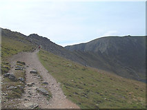 NY3415 : Striding Edge and Helvellyn Summit by Gary Rogers