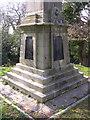 SZ3395 : Base of the Walhampton Monument, east of Lymington by Jim Champion