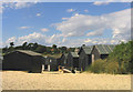 TM4974 : Beach Huts, Walberswick, Suffolk by John Winfield