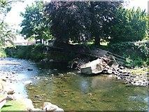 NY2623 : Former Footbridge Over the River Greta by Mick Garratt