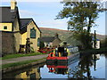 SO2414 : Monmouthshire and Brecon Canal, Baylis Bridge, Bridgend Inn, Gilwern by Pip Rolls
