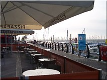 TQ3303 : Cafe, Brighton Marina. by Bob Embleton