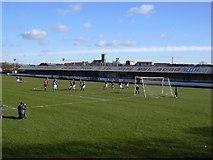 NS7177 : Duncansfield Park, Kilsyth. Football ground by paul c