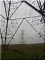 SE8416 : Pylons Pylons, over Carr Road by Jon Clark
