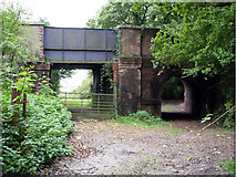 SU4808 : Railway bridge at Salterns, Bursledon by Peter Jordan