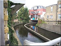 TQ2573 : River Wandle, Strathville Rd, SW18 by Keith Rose