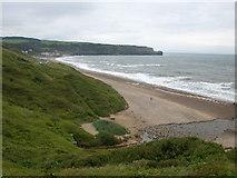 NZ8612 : Sandsend Beach near to Whitby. by Johnny Durnan