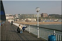 SZ1191 : Boscombe beach, east of pier by Peter Facey