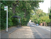 TQ0762 : Bus stop in Brooklands Road by Andrew Longton