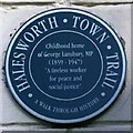 TM3877 : Plaque on home of George Lansbury by Nat Bocking