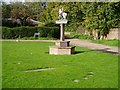 TL4052 : Haslingfield village sign and Millennium Sundial by David Gruar