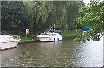SK8975 : Boats Moored on the Fossdyke at Saxilby by Martyn Whiteley