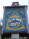 TQ8352 : Broomfield village sign by Penny Mayes