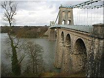 SH5571 : Menai Suspension Bridge by Ian Warburton