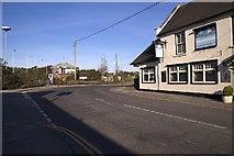 SY9288 : Railway crossing and signal box, Wareham, Dorset by John Lamper