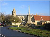 TF1205 : Butter Cross and parish church, Helpston, Peterborough by Rodney Burton