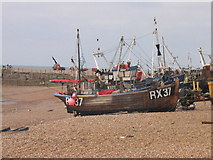 TQ8209 : Fishing Boats, Hastings, East Sussex by John Goodall