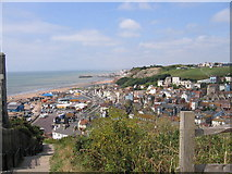 TQ8209 : Hastings from the East Hill by John Goodall