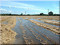 SK1035 : Flooding of farmland near Uttoxeter by Malcolm Reeve