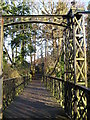 NS8246 : Footbridge at Crossford country park . by David Forrest