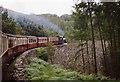 SH6340 : Llanfrothen: train on Cei Mawr by Martin Bodman
