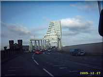 SJ5183 : Runcorn Bridge heading for Widnes by Mr M Evison