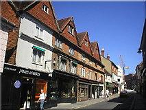 TQ1649 : Antique shops in West Street, Dorking by Richard Slessor