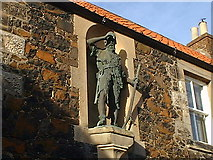 NO4202 : Statue of Alexander Selkirk 1676-1721 by colin f m smith