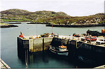 NF8855 : Kallin Harbour by Dave Fergusson