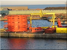 NT2677 : Colourful machinery, Leith Docks by Callum Black
