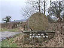 SK2666 : Peak District National Park boundary marker. by Mike Fowkes