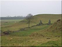 NT2756 : Old quarries, Mount Lothian by Richard Webb