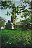 TQ1450 : Ranmore Church and Bluebells. by Colin Smith