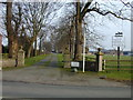 SJ4262 : Driveway to Huntington Hall by Stephen Charles