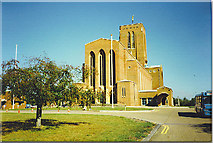 SU9850 : Guildford Cathedral, the West Front. by Colin Smith