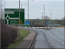 SE4111 : Brierley Roundabout by Richard Spencer