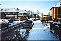 TQ1883 : Carlyon Rd, Alperton, Under Snow Dec. 27, 2000. by Baggy Suggs