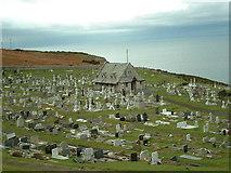 SH7683 : St Tudno Graveyard by Chris Shaw