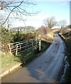 NZ7915 : Ford  (dry) where Newton Lane crosses Newton Beck by Gordon Brown