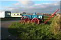 SW7717 : Cart on a caravan site near Trevothen, Coverack by Philip Halling