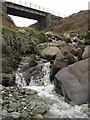SH5911 : Last few metres of Afon Caletwr by Barry Hunter
