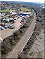 ST5276 : Railway line, looking down from Avonmouth Bridge by Linda Bailey